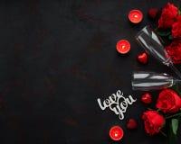 Fondo romántico del día de San Valentín imagen de archivo