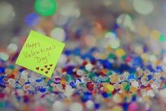 Fondo romántico del día del ` s de la tarjeta del día de San Valentín Imágenes de archivo libres de regalías