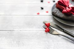 Fondo romántico del menú de la comida fotografía de archivo