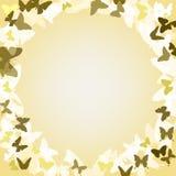 Fondo romántico del vector con las mariposas Imagen de archivo libre de regalías