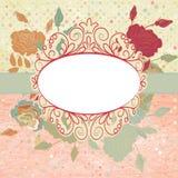 Fondo romántico del vintage con las rosas. EPS 8 stock de ilustración