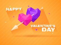Fondo romántico para el día de tarjetas del día de San Valentín stock de ilustración
