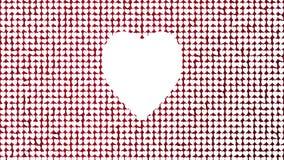 Fondo romántico que vuela el corazón del amor de la pared del calor rojo Para el día de tarjetas del día de San Valentín del St,  ilustración del vector