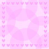 Fondo romántico rosado del corazón Foto de archivo libre de regalías