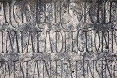 Fondo romano de la escritura Imagen de archivo libre de regalías
