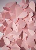 Fondo romantico delicato dei cuori di carta rosa Fotografia Stock
