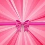 Fondo romantico di rosa di vettore con l'arco sveglio e Fotografia Stock