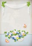 Fondo romantico elegante misero dell'annata del fiore Immagine Stock