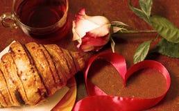 Fondo romantico per il giorno del ` s del biglietto di S. Valentino Immagini Stock