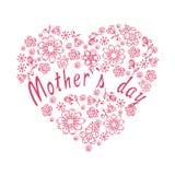 Fondo romantico per il giorno del ` s della madre Fiori di scarabocchio Fotografia Stock