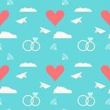 Fondo romantico senza cuciture di nozze Fotografie Stock