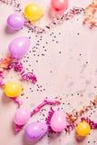 Fondo rosa abbastanza femminile del partito o di carnevale Fotografia Stock