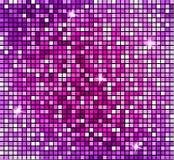 Fondo rosa astratto brillante del mosaico Mosaico brillante nello stile della palla della discoteca La discoteca d'argento di vet illustrazione di stock