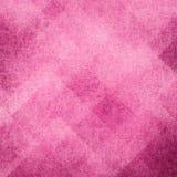 Fondo rosa astratto con i blocchi quadrati ad angolo ed il modello casuale a forma di diamante Fotografie Stock Libere da Diritti