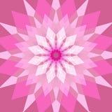 Fondo rosa astratto con il rombo Fotografie Stock
