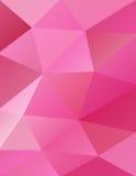 Fondo rosa astratto dei triangoli Fotografie Stock