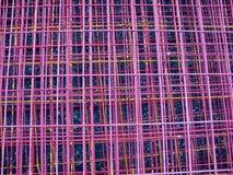 Fondo rosa astratto della rete metallica Fotografia Stock Libera da Diritti