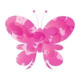 Fondo rosa astratto delle farfalle di vettore Fotografie Stock Libere da Diritti