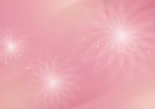 Fondo rosa-chiaro floreale astratto per progettazione illustrazione vettoriale