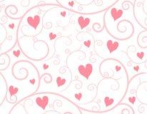 Fondo rosa claro de la vid de los corazones Imagen de archivo libre de regalías