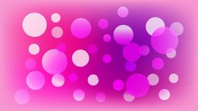 Fondo rosa claro del vector con los círculos Ejemplo con el sistema de brillar la gradaci?n colorida Modelo para los folletos, pr ilustración del vector