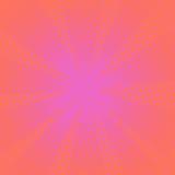 Fondo rosa comico dei retro raggi Fotografie Stock
