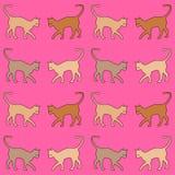 Fondo rosa con i gatti royalty illustrazione gratis