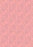 Fondo rosa con l'ornamentodel whiteImmagini Stock Libere da Diritti