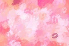 Fondo rosa cosmetico delle labbra Fotografia Stock