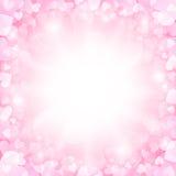 Fondo rosa dei biglietti di S. Valentino Fotografia Stock