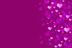 Fondo rosa dei cuori. Fotografie Stock Libere da Diritti