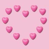 Fondo rosa dei cuori Fotografia Stock