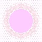 Fondo rosa del centrino del pizzo Fotografie Stock Libere da Diritti