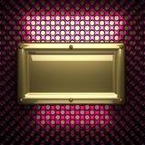 Fondo rosa del metallo con l'elemento giallo Immagine Stock Libera da Diritti