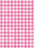 Fondo rosa del modello dell'acquerello del tessuto di picnic Fotografie Stock Libere da Diritti