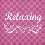 Fondo rosa del pois con il sentimento di rilassamento Immagini Stock Libere da Diritti