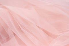 Fondo rosa delicato del tessuto Fotografia Stock Libera da Diritti