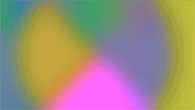Fondo rosa dell'estratto del cerchio del triangolo di verde giallo Fotografia Stock Libera da Diritti