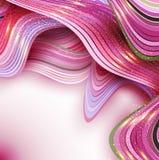 Fondo rosa dell'estratto di vettore con le onde Fotografie Stock