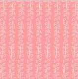 Fondo rosa della foglia Fotografie Stock Libere da Diritti