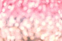 Fondo rosa della luce del bokeh di colore, tema romantico, dolce e dre Immagine Stock Libera da Diritti