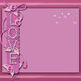 Fondo rosa di amore Immagine Stock