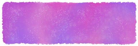 Fondo rosa e porpora dello spazio dell'acquerello illustrazione di stock