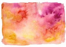 Fondo rosa giallo Immagini Stock