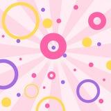 Fondo rosa romantico sveglio di vettore nello stile di sorpresa della bambola di GRASSA RISATA La decorazione per il compleanno d royalty illustrazione gratis
