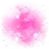Fondo rosa stilizzato dell'acquerello Fotografie Stock