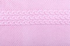 Fondo rosa tricottato di struttura Fotografia Stock