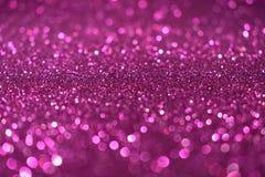 Fondo rosa viola di scintillio di Valentine Day del nuovo anno di Natale Tessuto astratto di struttura di festa Elemento, flash fotografie stock libere da diritti