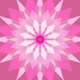 Fondo rosado abstracto con el Rhombus Fotos de archivo