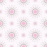 Fondo rosado abstracto con los círculos. Fotografía de archivo libre de regalías